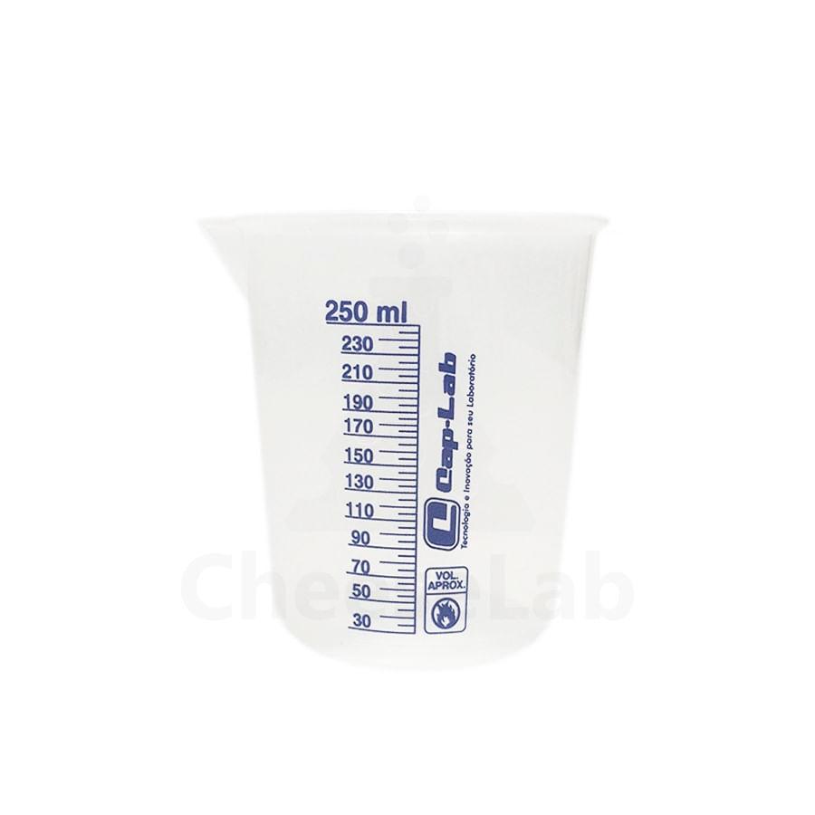 Copo Becker Plástico Cap-Lab 250mL