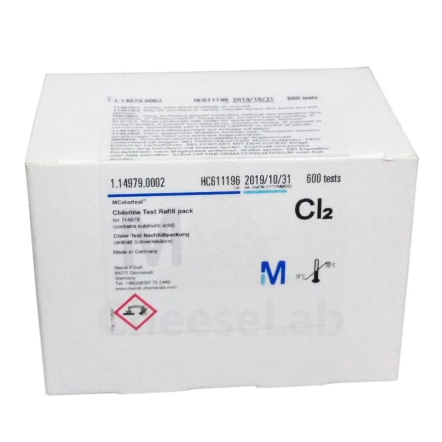 Refil para Teste de Cloro Livre Microquant (0,1-2,0mgl) Merck - 600 testes