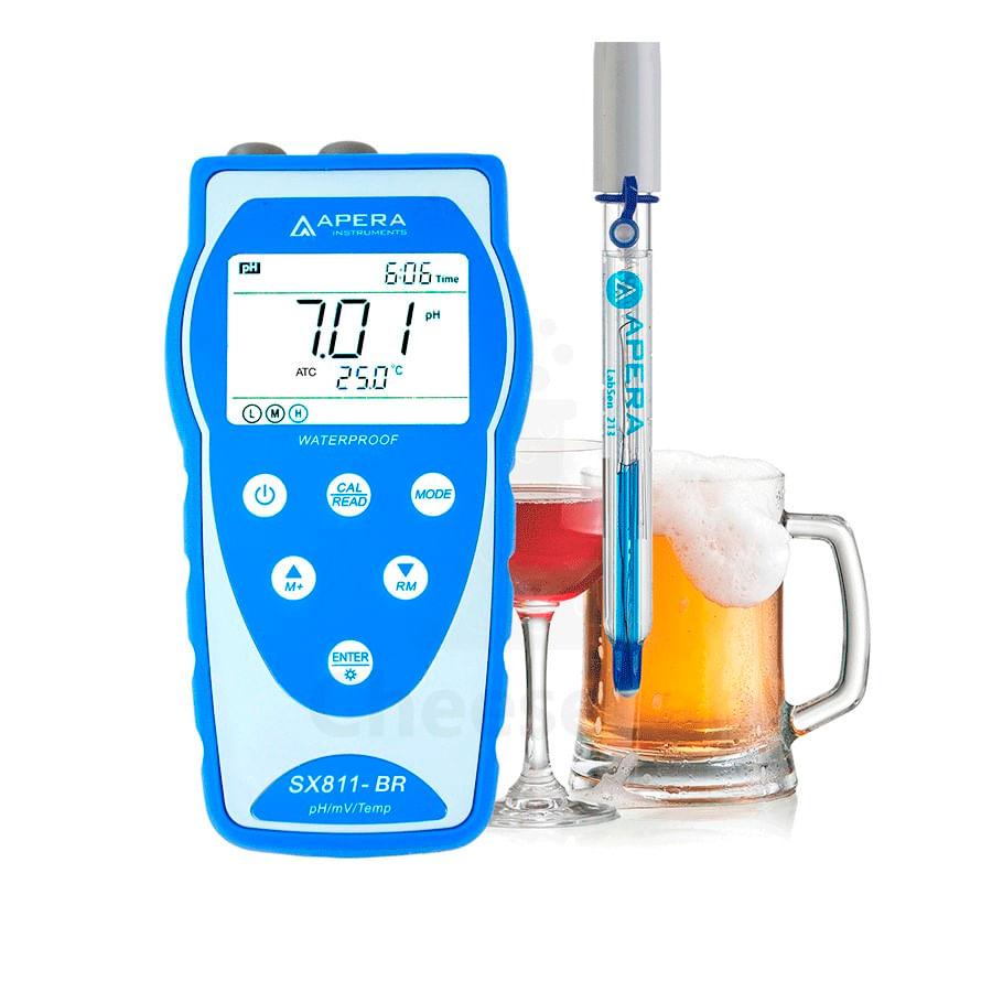 pHmetro Portátil com Eletrodo para Bebidas - SX811-BR